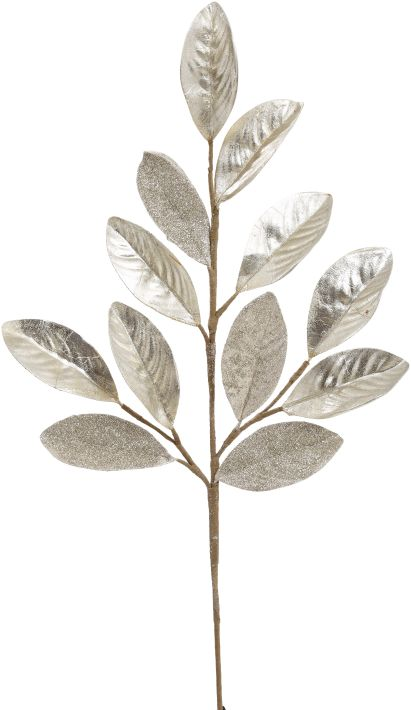 Guilded Magnolia Leaf Spray - 27 Inches