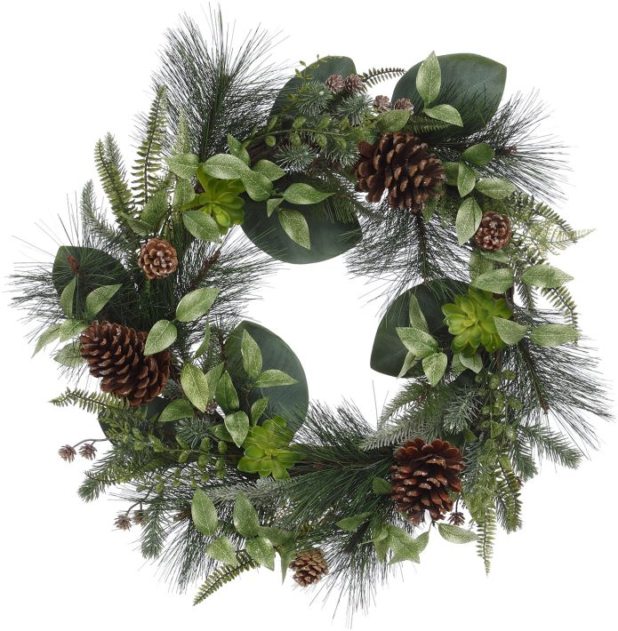 MIXED PINE WREATH24''
