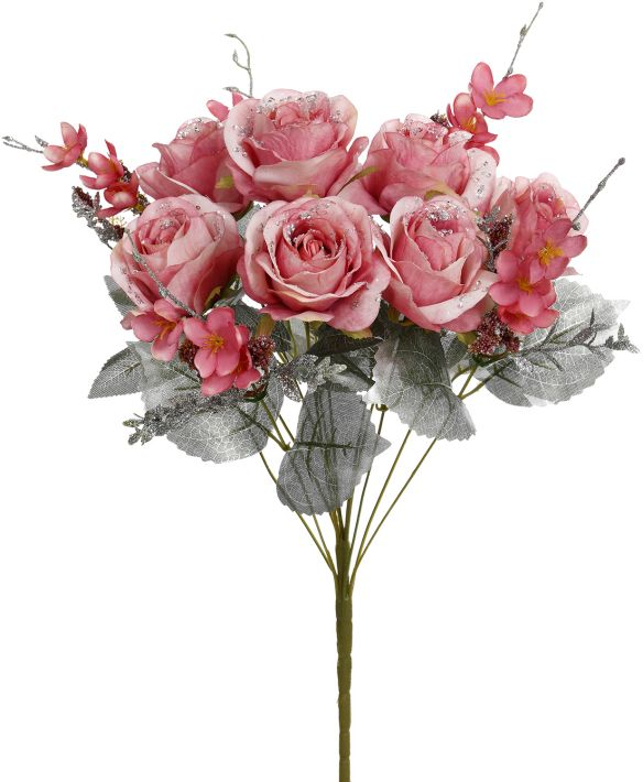 ICED MIXED ROSE BUNCH 20''