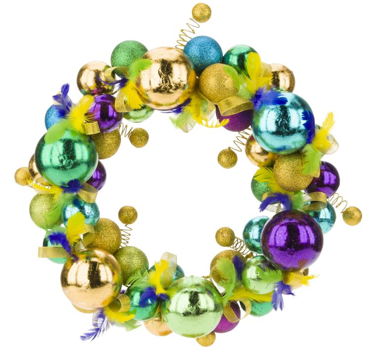 MADRI GRAS WREATH 15''