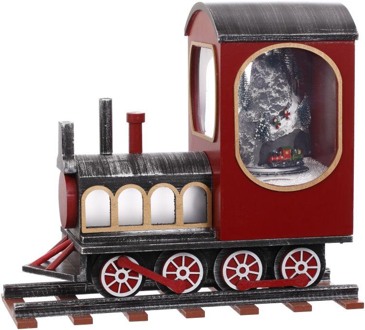 SNOWING TRAIN 20X18''