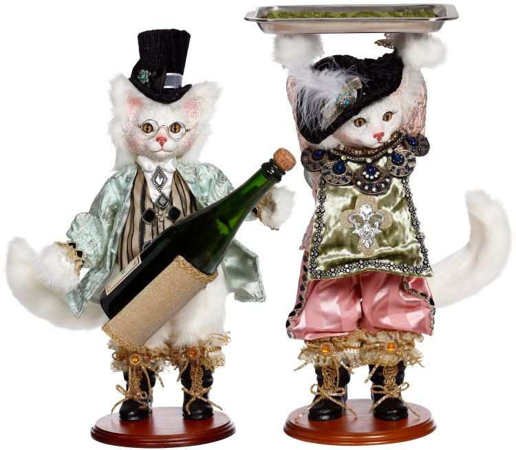 51-15924 CAT WINE BOTTLE HOLDER & HOLDING TRAY A2