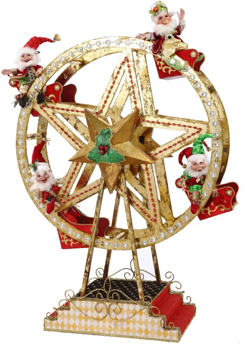 FERRIS WHEEL W ELVES 43''