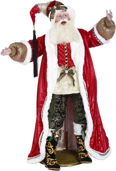 COAL STOCKING SANTA 60''