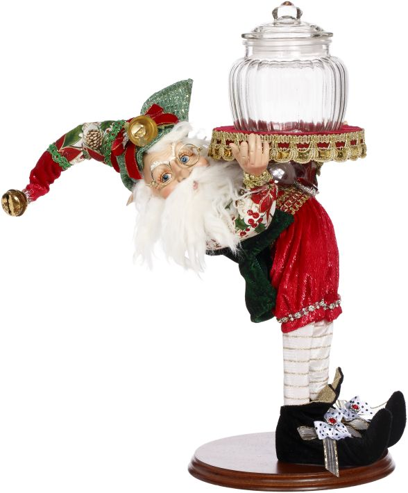 STOCKING ELF W/JAR 17''