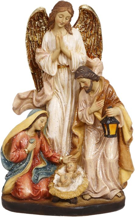 HOLYFAMILY W/ANGEL 9.5''