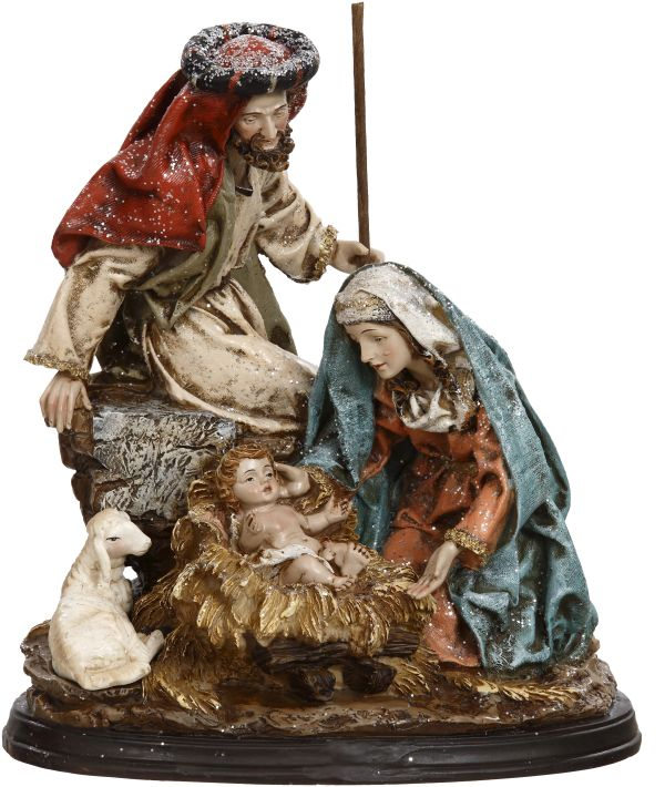 Nativity With Lamb 9 Inches Mark Roberts Wholesale