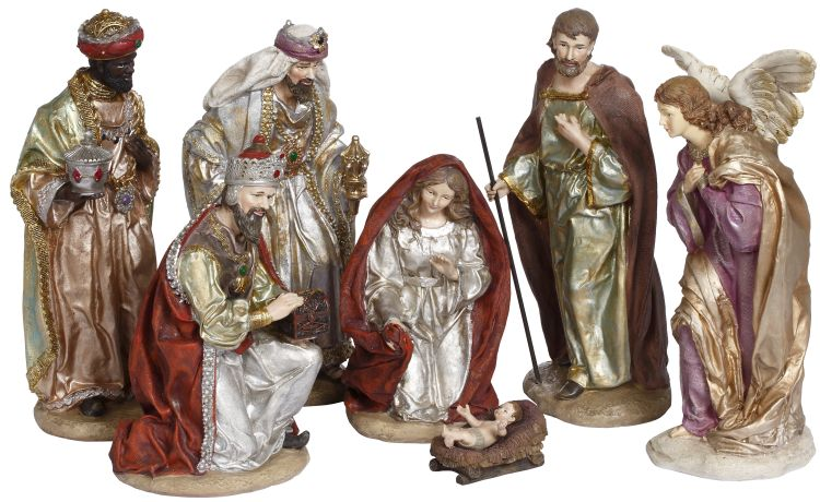 PEARLIZED NATIVITY S/7