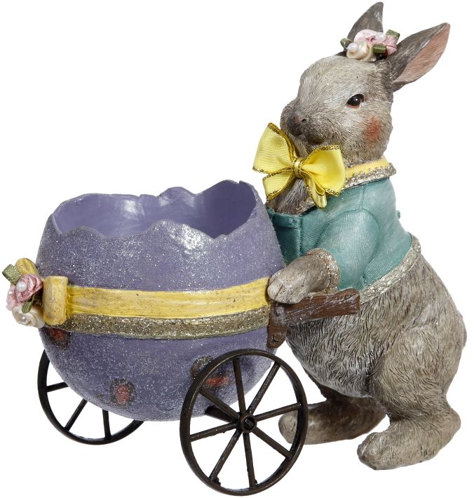 RABBIT W/EGG CART 5.5''