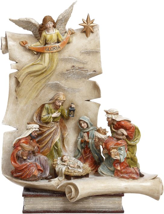 NATIVITY SCROLL 17.5''