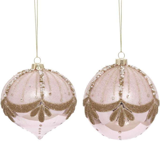 BEADED BUNTING ORN 4''A2