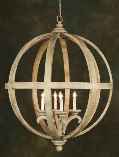 Woodlook Ball Chandelier - 42 Inches