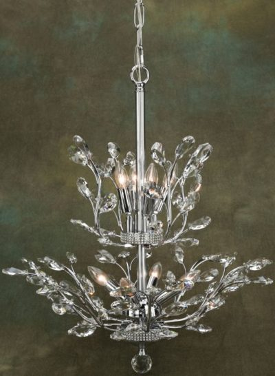 Elegant Orchid Chandelier - 21 x 22 Inches