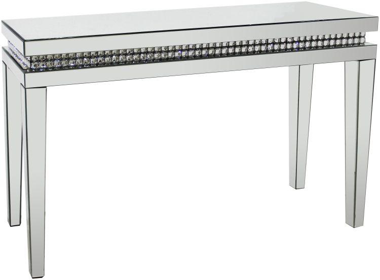 SILVER CONSOLE TABLE 43''